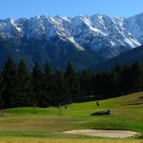 Kelvin Heights golf course is located in Queenstown, South Island, New Zealand.