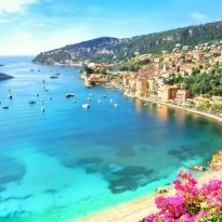 Luxury resort of Villefranche sur Mer. French Riviera, Cote d'Azur, France