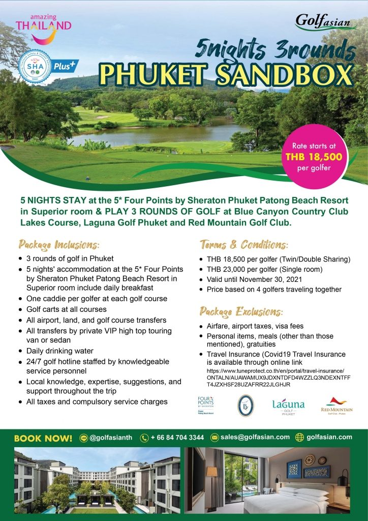 Phuket Sandbox 5 Nights 3 Rounds Package - For Golfers from India